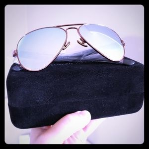 Westward Leaning Rose Gold Mirrored Sunglasses